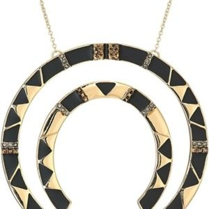 """SALE NEW HOUSE OF HARLOW 1960 Gold//Black /""""NELLI/"""" Pendant Necklace"""